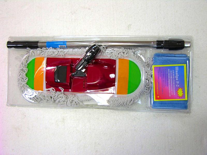Швабра микрофибра в блистере со съемной тряпкой ТВ-016