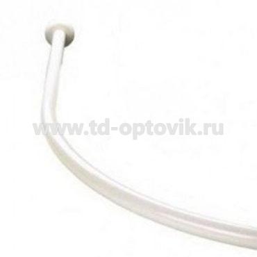 Карниз для ванной дуговой белый алюминиевый 105-150 КНП003д