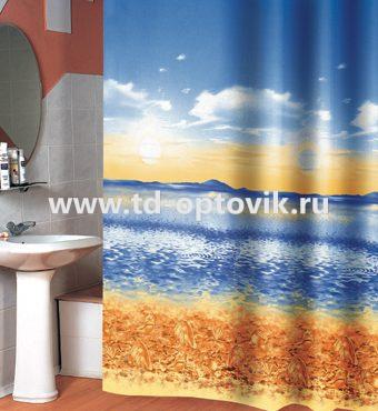 Шторка в ванную комнату VONALDI SHELL BEACH