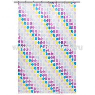 Штора для ванной комнаты «Цветной тетрис» 180×180 см цвет белый