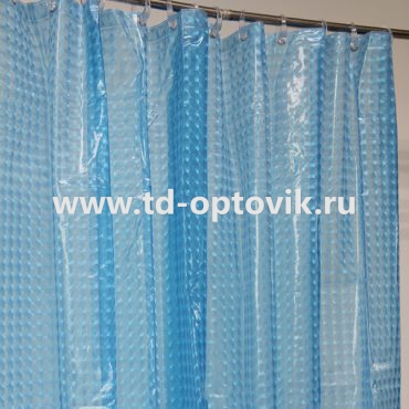Шторка в ванную комнату La Vita 3D 180х200 синий