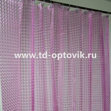 Шторка в ванную комнату La Vita 3D 180х200 розовый