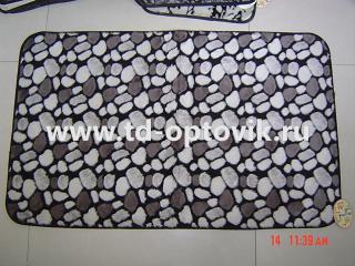 Коврик универсальный камушки серые 60х100см