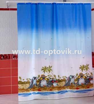 Шторы для ванн MIRANDA DOLPHIN BEACH голубой