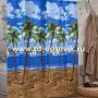 Шторы для ванн MIRANDA MALDIVES голубой