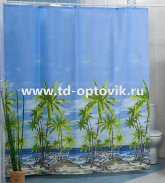 Шторы для ванн MIRANDA PALM голубой