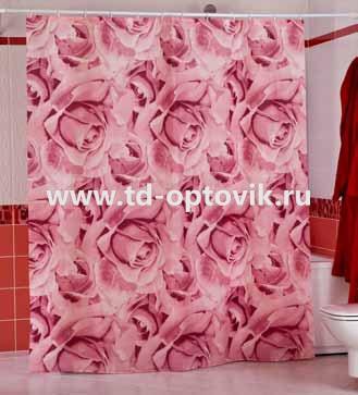 Шторы для ванн MIRANDA ROSES розовый