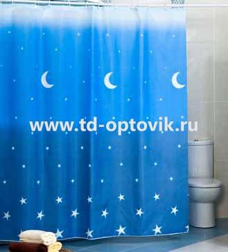 Шторы для ванн MIRANDA BLUEMOON голубой