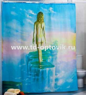 Шторы для ванн MIRANDA DREAM WALKER голубой