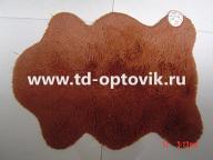 Коврик универсальный шкура овца рыжая 60х100/65х90см